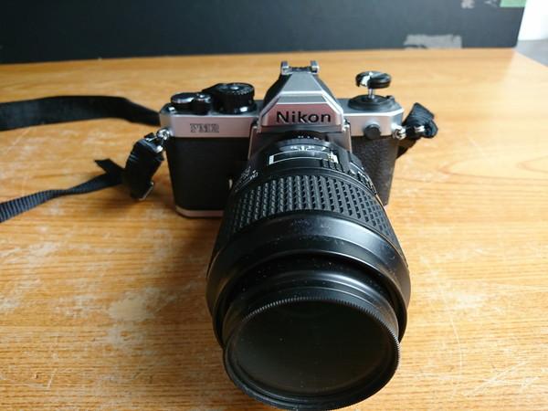 5-12D NIKON フィルムカメラ FM2 +レンズ AF MICRO NIKKOR 105mm 1:2.8 _画像2