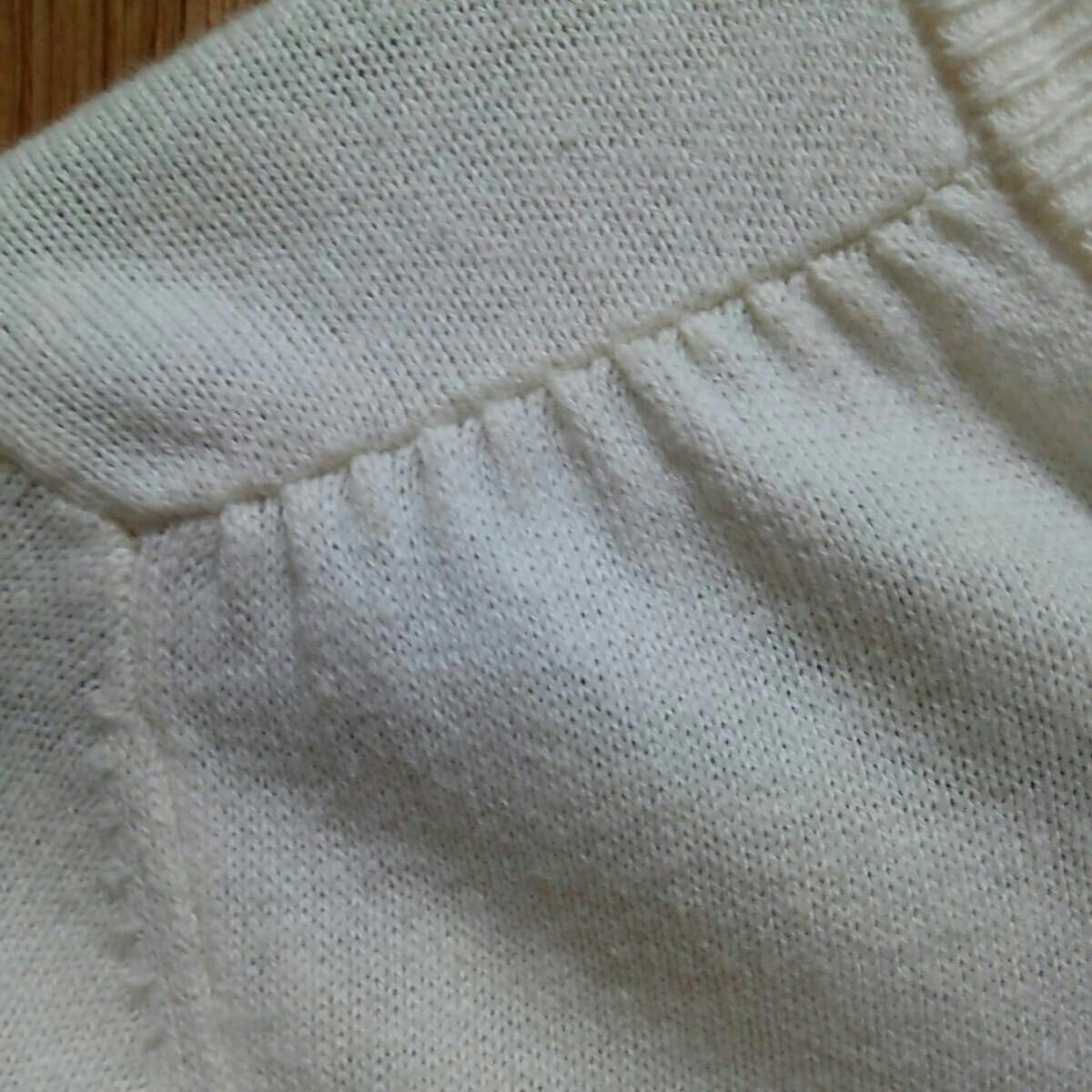 中古品 GAPKids 150cm ショート丈 長袖カーディガン 白 綿100% 子供服 女の子 上着 羽織もの 薄手_画像7