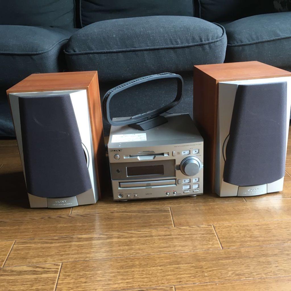 ジャンクSONY CD MDコンポ MD11