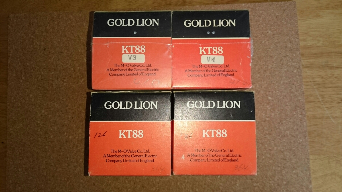 GOLD LION KT88 2 Matched Pair MADE IN ENGLAND USED_画像7