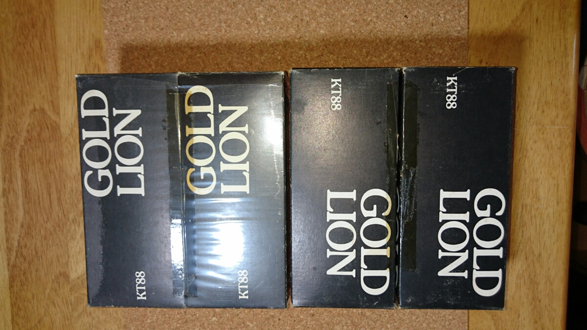 GOLD LION KT88 2 Matched Pair MADE IN ENGLAND USED_画像8