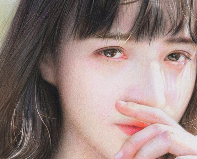 似顔絵肖像画 色鉛筆画 注文制作 オーダーメイド プレゼント_画像2