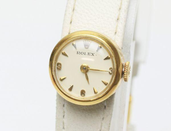 本物 アンティーク ロレックス ROLEX カメレオン K18 ゴールド 腕時計 レディース 手巻き ジャンク 180249