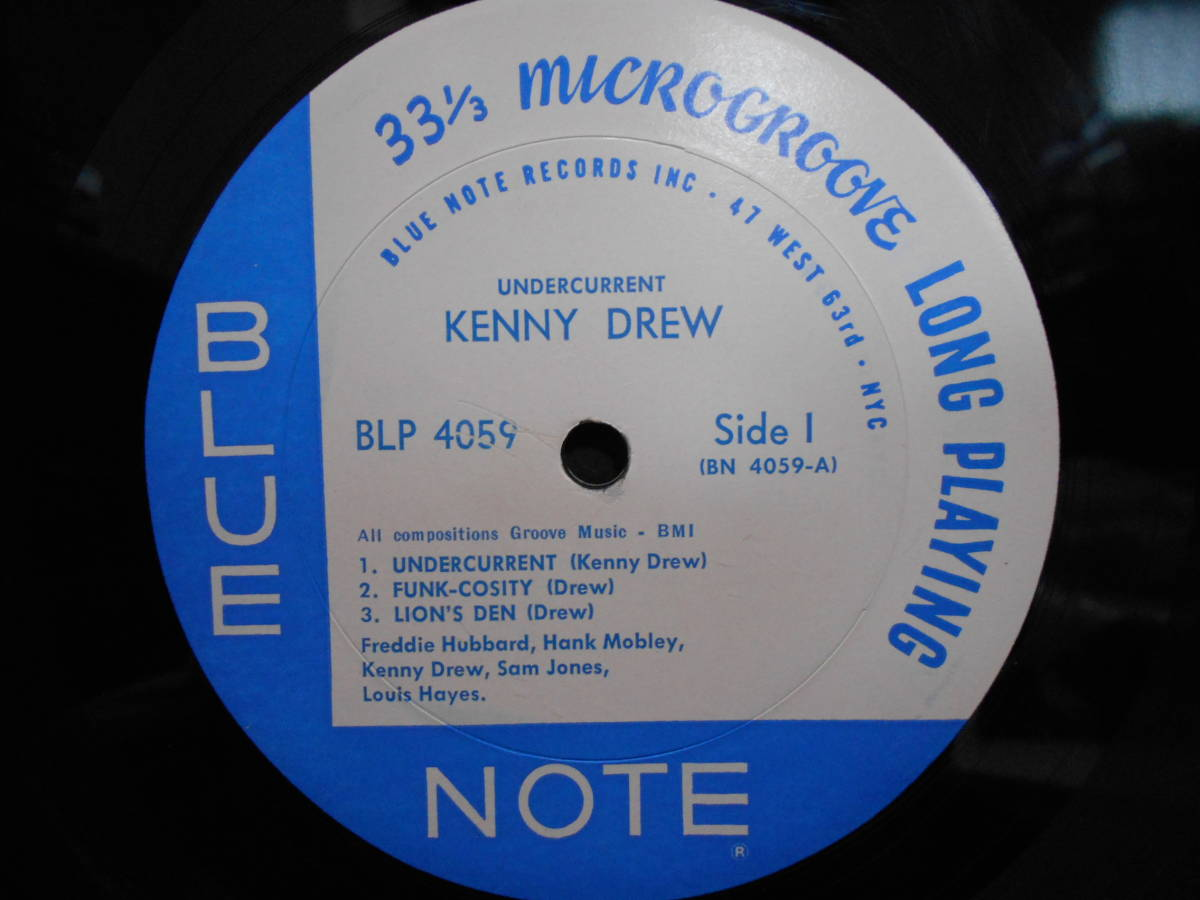 """米MONO盤 KENNY DREW """"UNDERCURRENT"""" BLUE NOTE 4059 47 WEST 63rd RVG_画像3"""