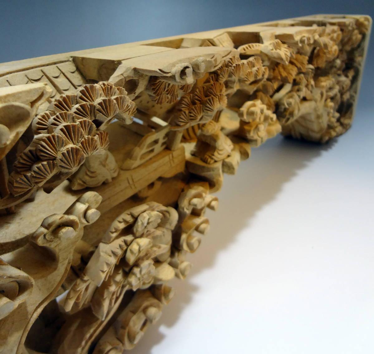 アンティーク 木材 細工 彫刻 らんま 木彫り 美術品 _画像2