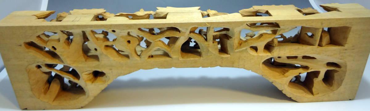 アンティーク 木材 細工 彫刻 らんま 木彫り 美術品 _画像8