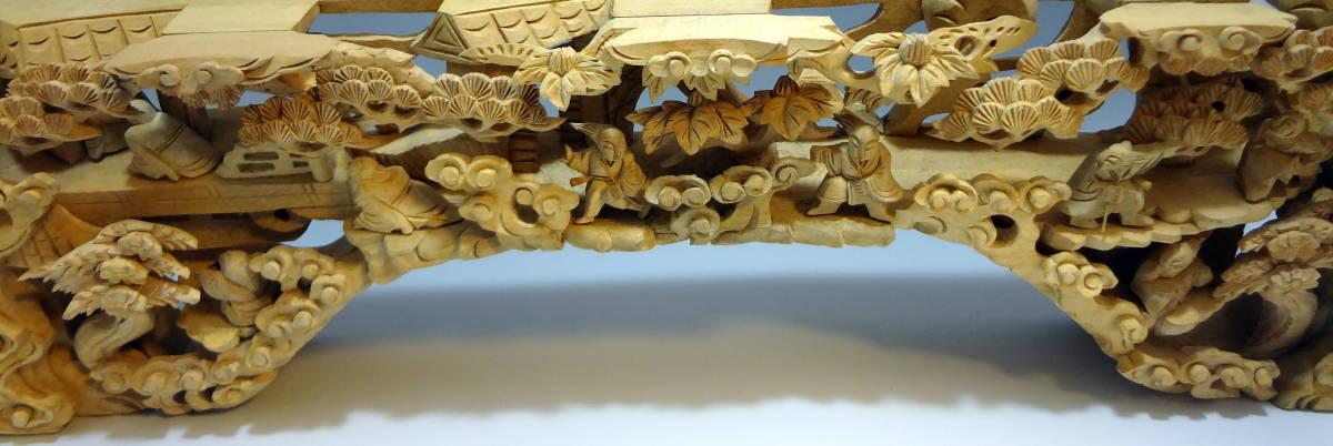 アンティーク 木材 細工 彫刻 らんま 木彫り 美術品