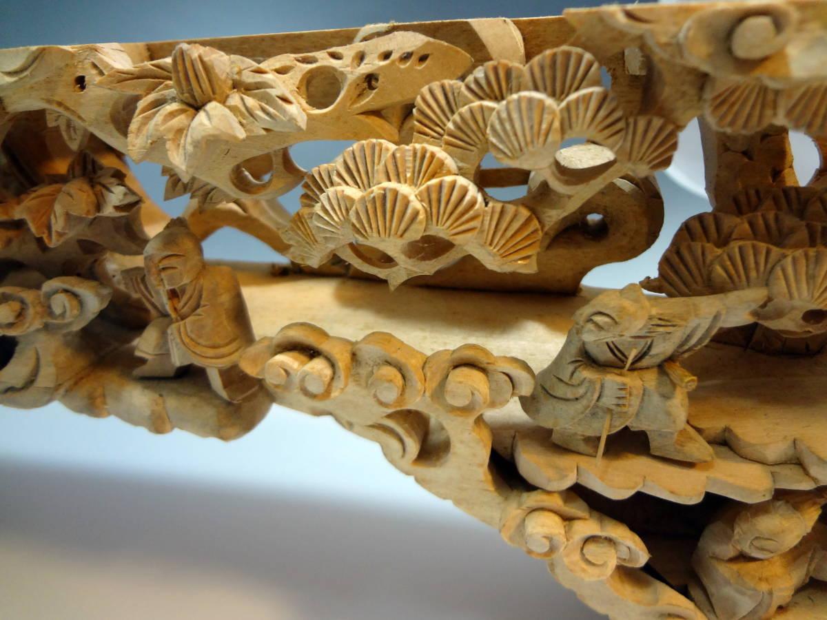 アンティーク 木材 細工 彫刻 らんま 木彫り 美術品 _画像9