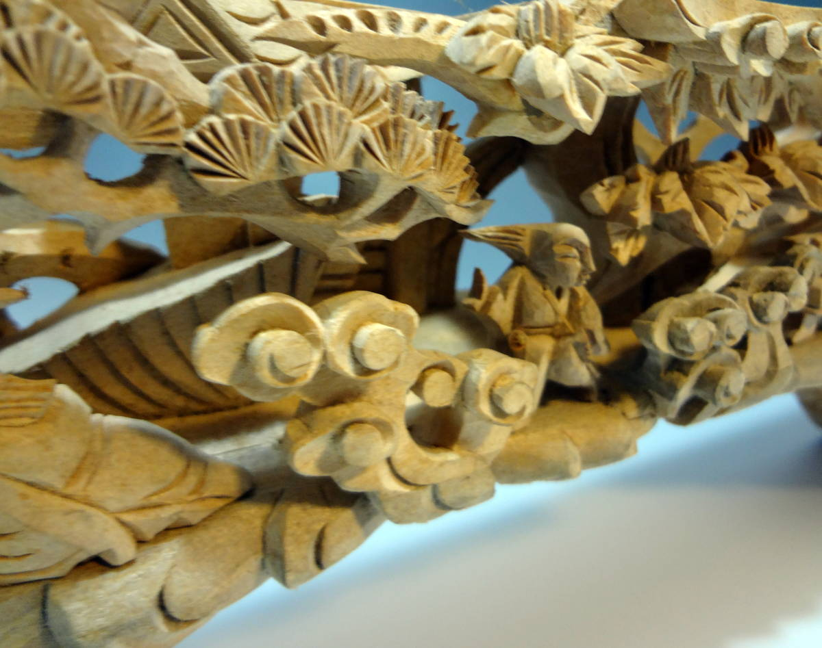 アンティーク 木材 細工 彫刻 らんま 木彫り 美術品 _画像3