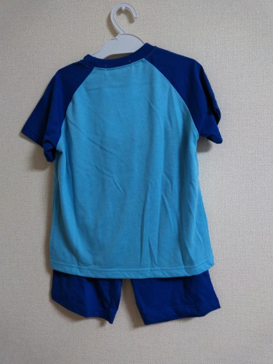 プラレール パジャマ ブルー×ネイビー 110 *新品*半袖*半ズボン*新幹線*電車*男の子*こまち*かがやき*はやぶさ*_画像2