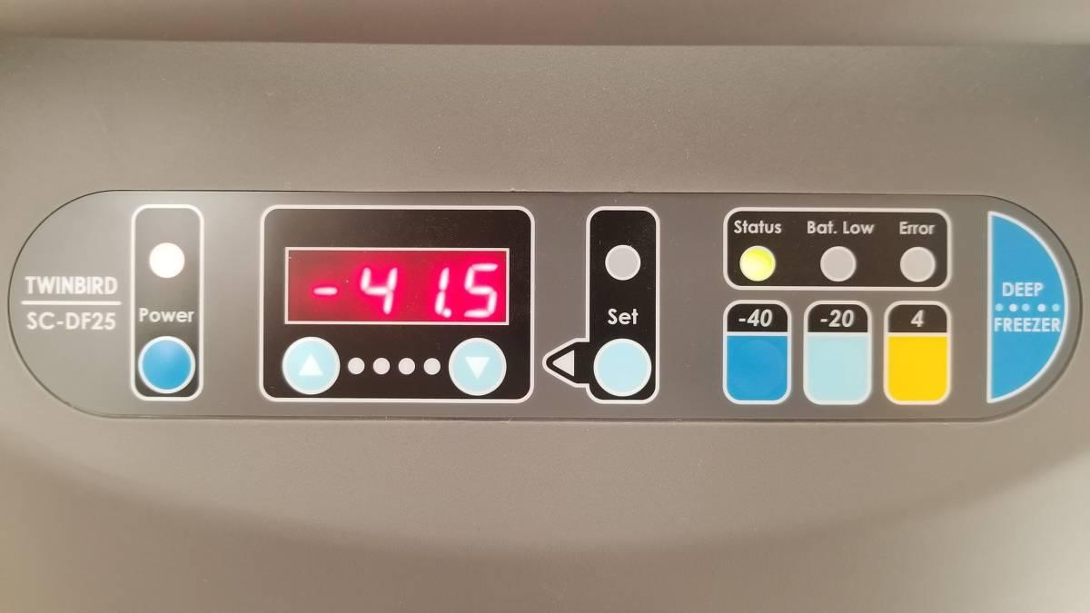TWINBIRD ツインバード SC-DF25 ディープフリーザー 25L マイナス 40℃ 動作品_画像4