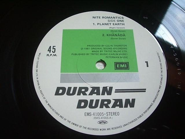 ★LPレコード Duran Duran ナイト・ロマンティックス / デュラン・デュラン ★★帯付き★★ _画像4