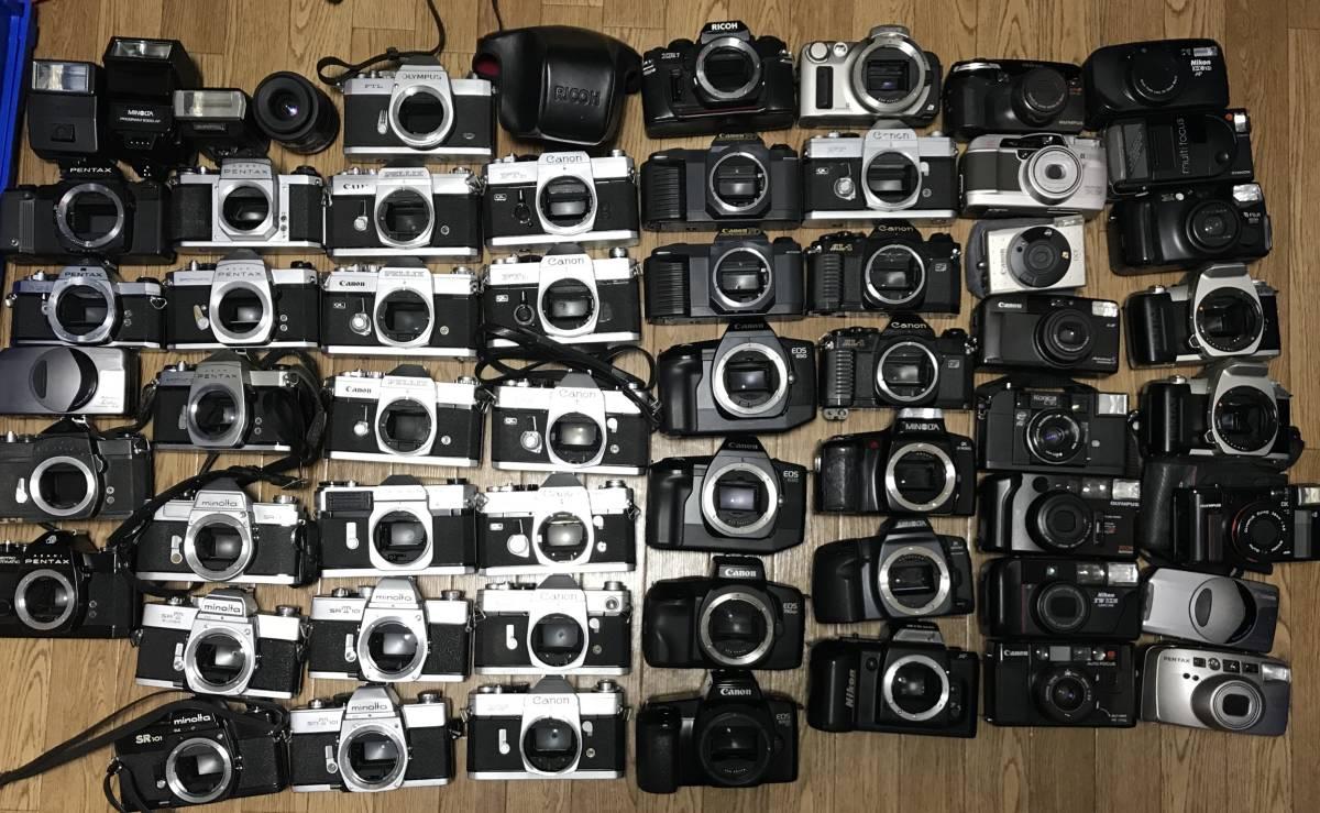 大量 61個 ジャンク PENTAX MX NIKON RICOH OLYMPUS Canon minolta FUJICA まとめて 一眼レフカメラ フィルムカメラ