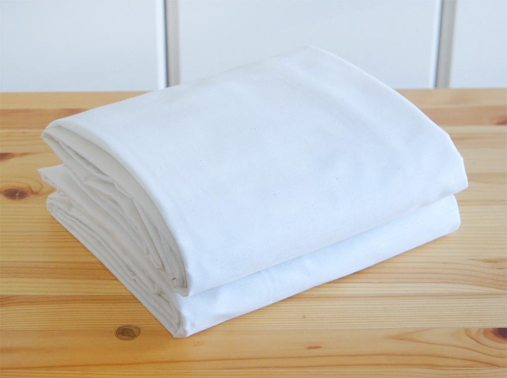 状態良好◎ 無印良品 MUJI ムジ ポリエステル 混熱を通しにくいミラーレース プリーツカーテン ホワイト 白 丈200 2枚組 送料370円~手渡_画像4