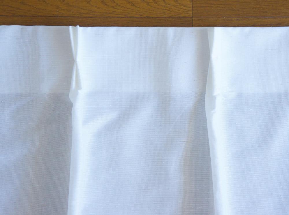 状態良好◎ 無印良品 MUJI ムジ ポリエステル 混熱を通しにくいミラーレース プリーツカーテン ホワイト 白 丈200 2枚組 送料370円~手渡_画像2