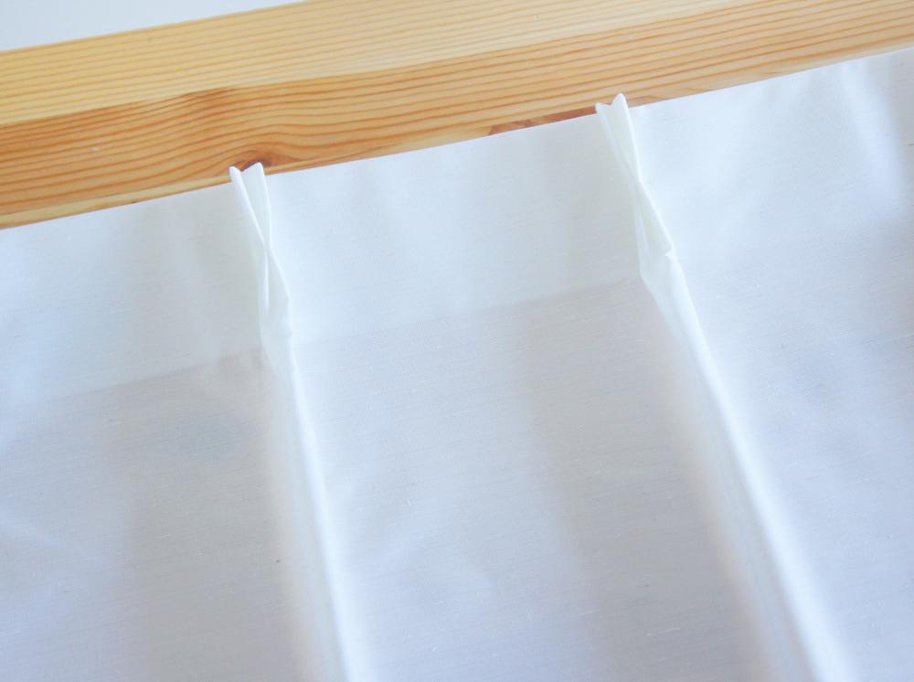 状態良好◎ 無印良品 MUJI ムジ ポリエステル 混熱を通しにくいミラーレース プリーツカーテン ホワイト 白 丈200 2枚組 送料370円~手渡