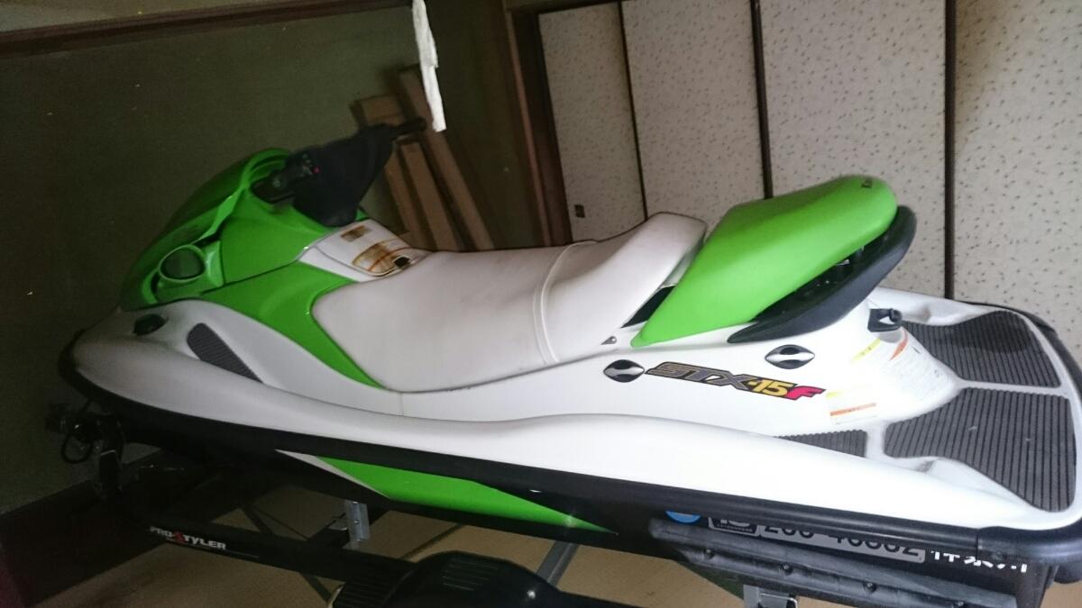 カワサキ stx-15f ジェットスキー&トレーラー台車 PRO-STYLER セット kawasaki 水上スキー ジェット2オーナー 台車新車から1日使用