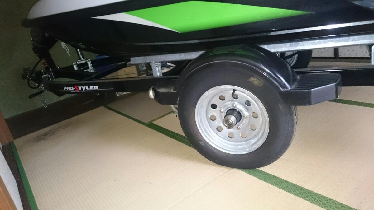 「カワサキ stx-15f ジェットスキー&トレーラー台車 PRO-STYLER セット kawasaki 水上スキー ジェット2オーナー 台車新車から1日使用」の画像2