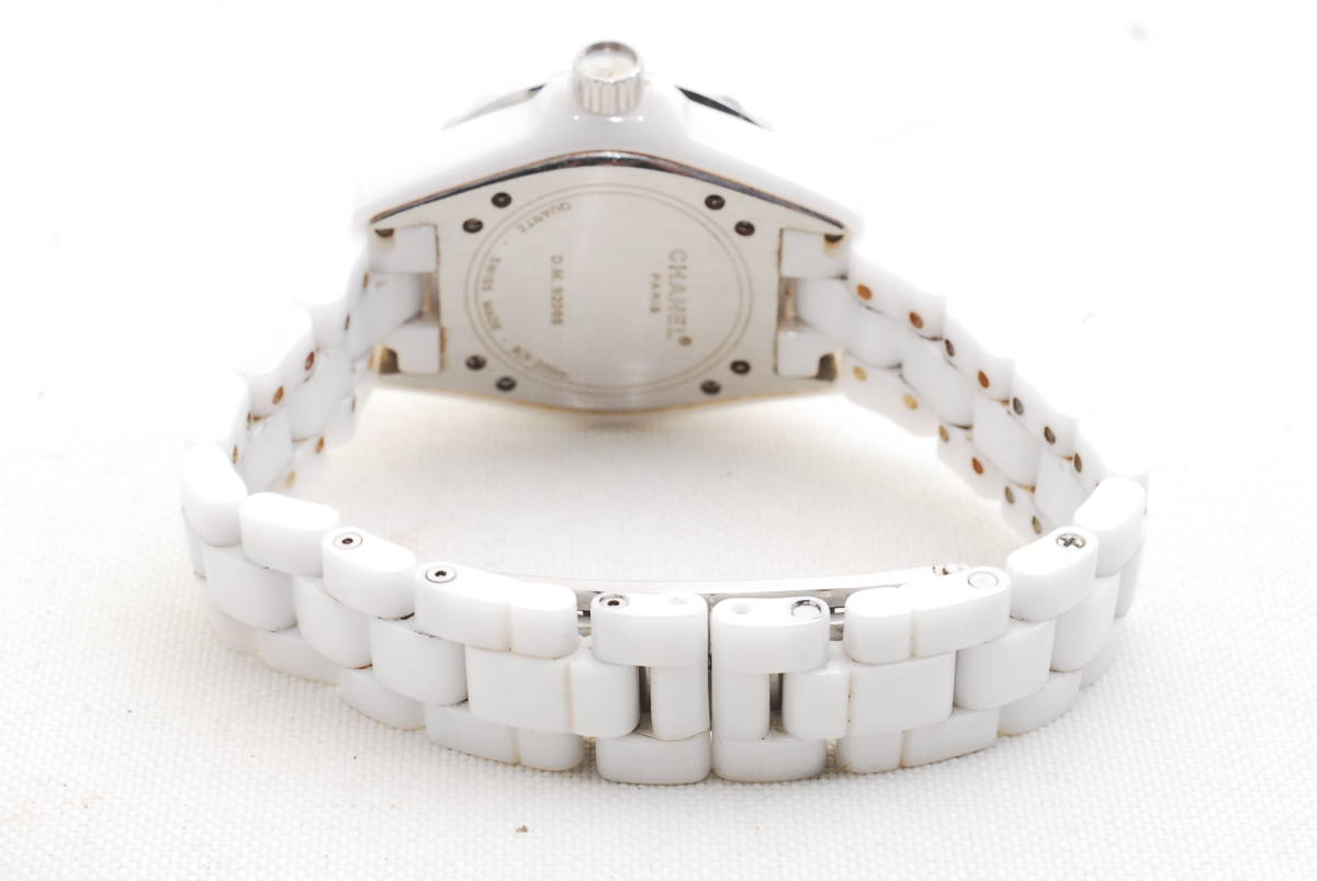 CHANEL シャネル J12 ホワイト セラミック メンズ クォーツ 腕時計_画像4