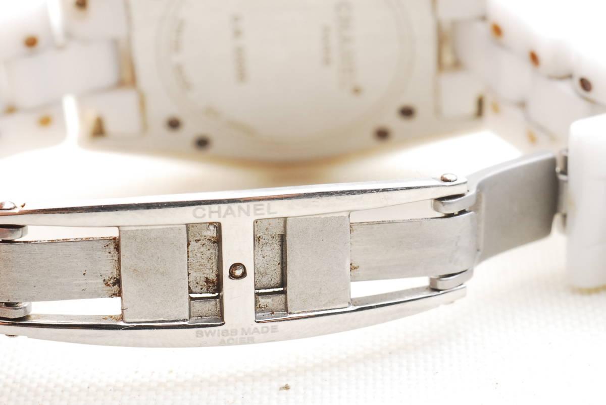 CHANEL シャネル J12 ホワイト セラミック メンズ クォーツ 腕時計_画像5