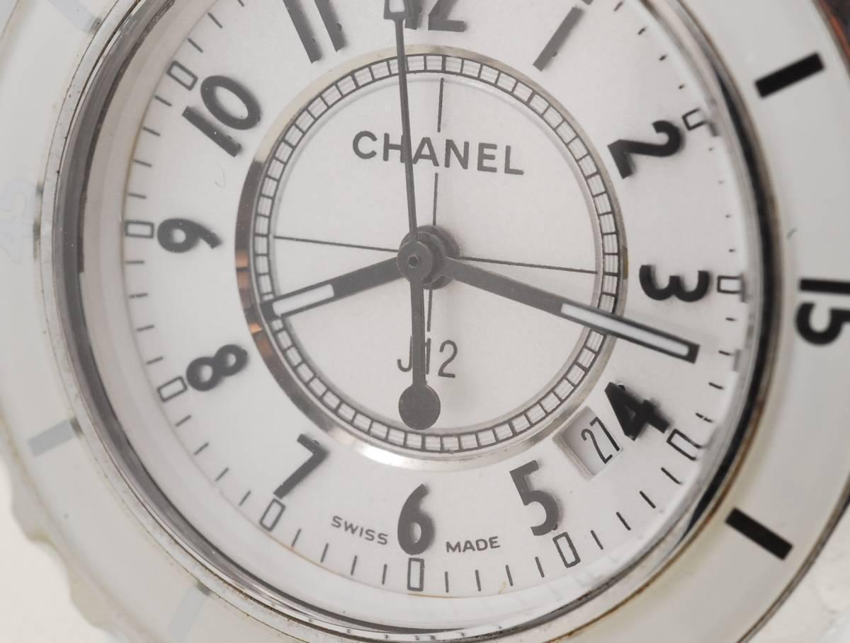CHANEL シャネル J12 ホワイト セラミック メンズ クォーツ 腕時計_画像2
