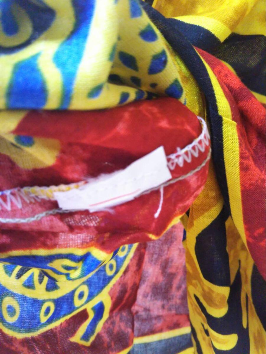 未使用 ムームー ハワイアン アロハ フラ サマードレス フラダンス 結婚式 サマードレス 花柄ワンピース サーフィン 水着 の上にも 36-3_画像5