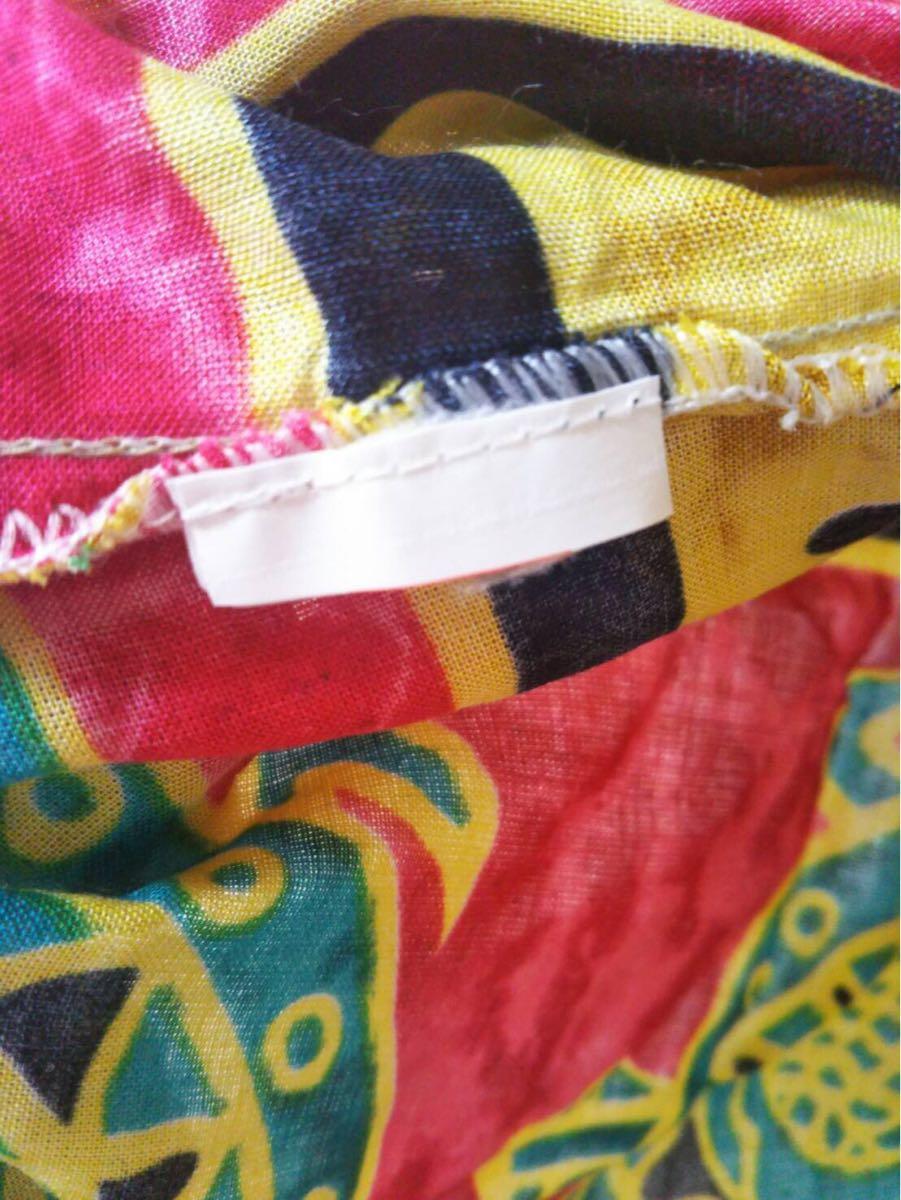 未使用 ムームー ハワイアン アロハ フラ サマードレス フラダンス 結婚式 サマードレス 花柄ワンピース サーフィン 水着 の上にも 31-2_画像5