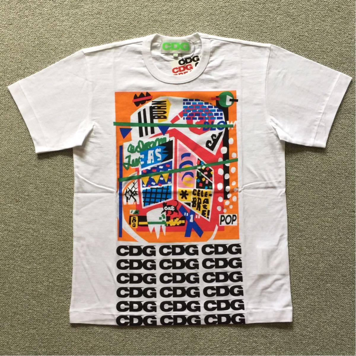 コムデギャルソン CDG BREAKING NEWS ゴールデンウィーク Tシャツ Mサイズ COMME des GARCONS コム デ ギャルソン コム・デ・ギャルソン_画像1
