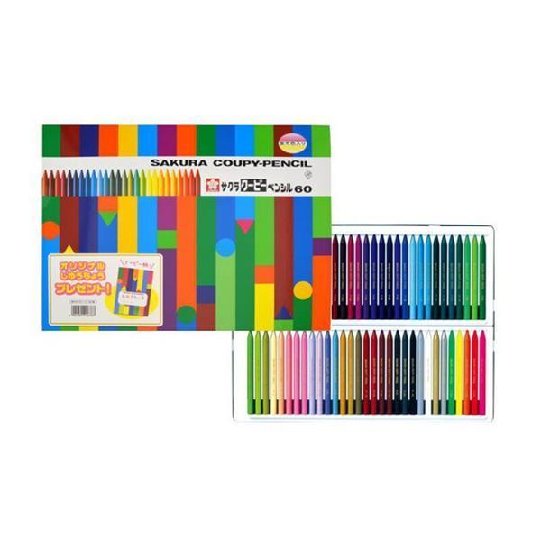 送料無料 サクラクレパス クーピーペンシル60色 未使用品 じゆうちょう付き ノート 自由帳_画像2