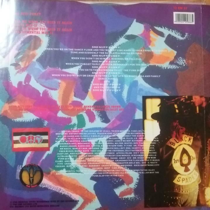 レコード アフリカバンバータ Afrika Bambaataa Sho Nuff Funky Feat. Slug-Go) ヒップホップ ラップ rap DJ ブラックミュージック 12inch_画像2