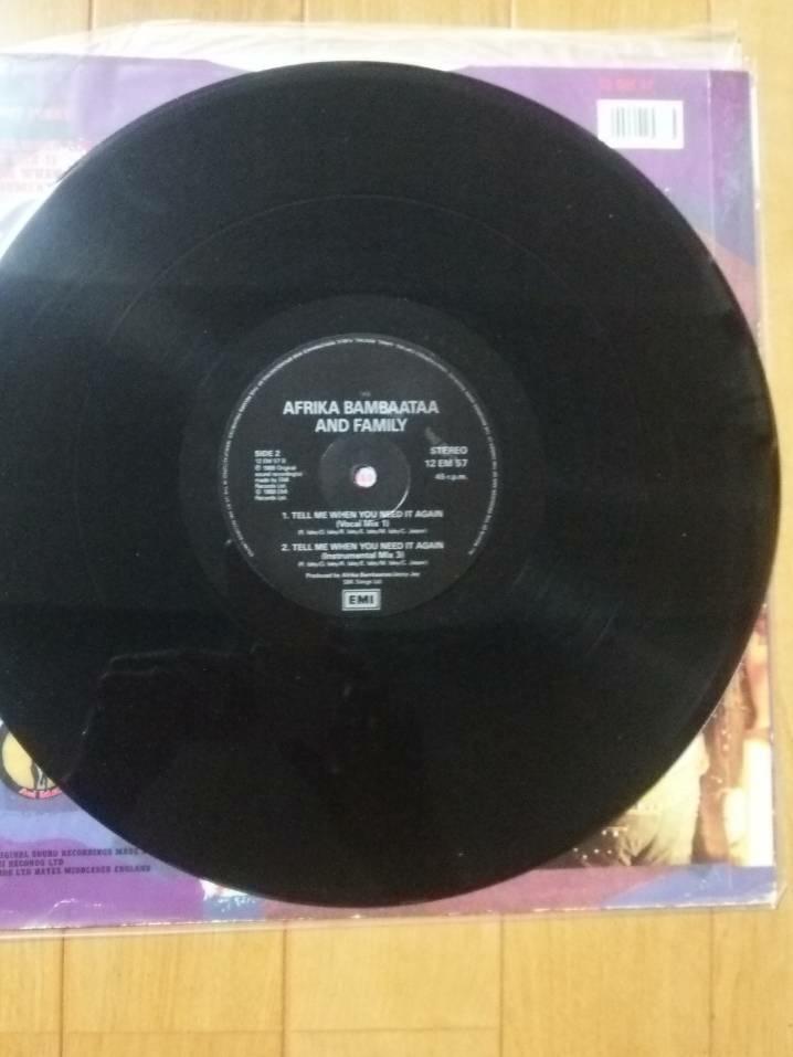 レコード アフリカバンバータ Afrika Bambaataa Sho Nuff Funky Feat. Slug-Go) ヒップホップ ラップ rap DJ ブラックミュージック 12inch_画像3