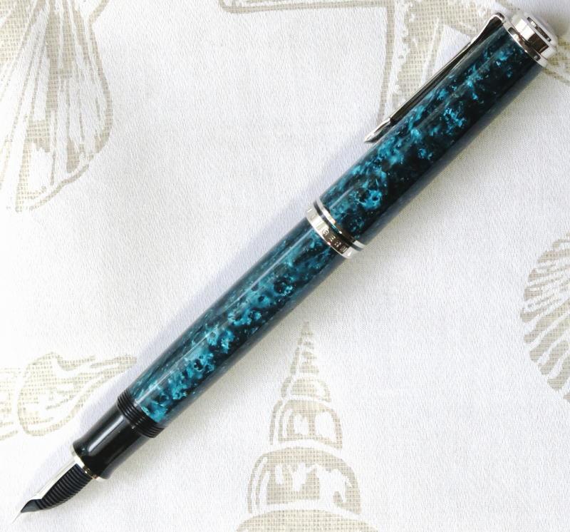 新品 送料無料 希少品 ペリカン万年筆 特別生産品 スーベレーン M805 『オーシャンスワール』 ペン先EF(極細字)