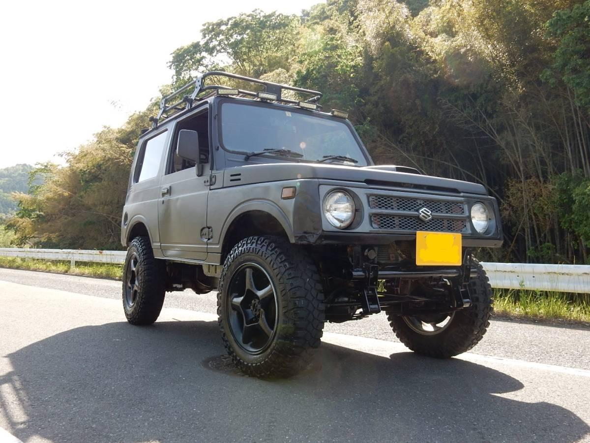 ★1円スタート♪ 車検31年1月付 ジムニー JA11V 5MT 4WD リフトアップ♪ 売り切り♪