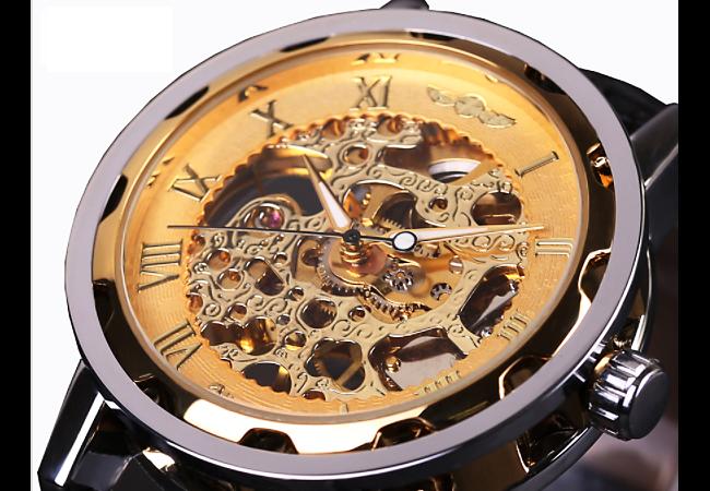 ◎新品 腕時計 スケルトン33 高級 機械式 美しすぎるデザイン fortis調 アンティーク お洒落 beams調 メンズ カジュアル ブランド レア 4_画像1