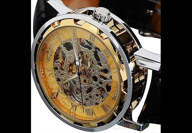 ◎新品 腕時計 スケルトン33 高級 機械式 美しすぎるデザイン fortis調 アンティーク お洒落 beams調 メンズ カジュアル ブランド レア 4_画像2