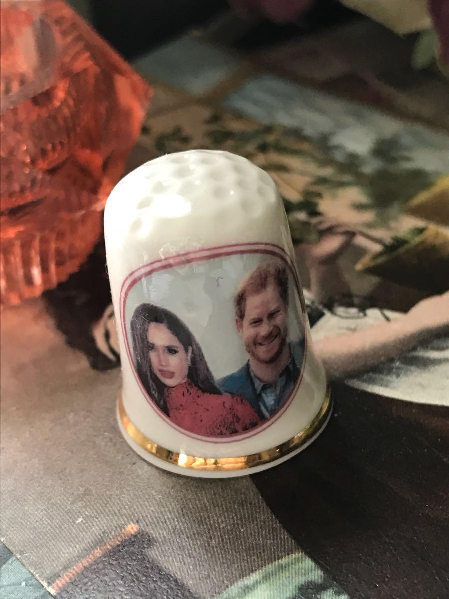 新品◆英国製シンブル指貫◆ヘンリー王子&メーガン婚約記念_画像1