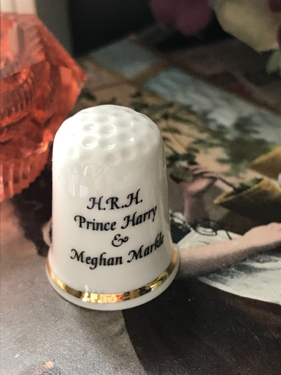 新品◆英国製シンブル指貫◆ヘンリー王子&メーガン婚約記念_画像3