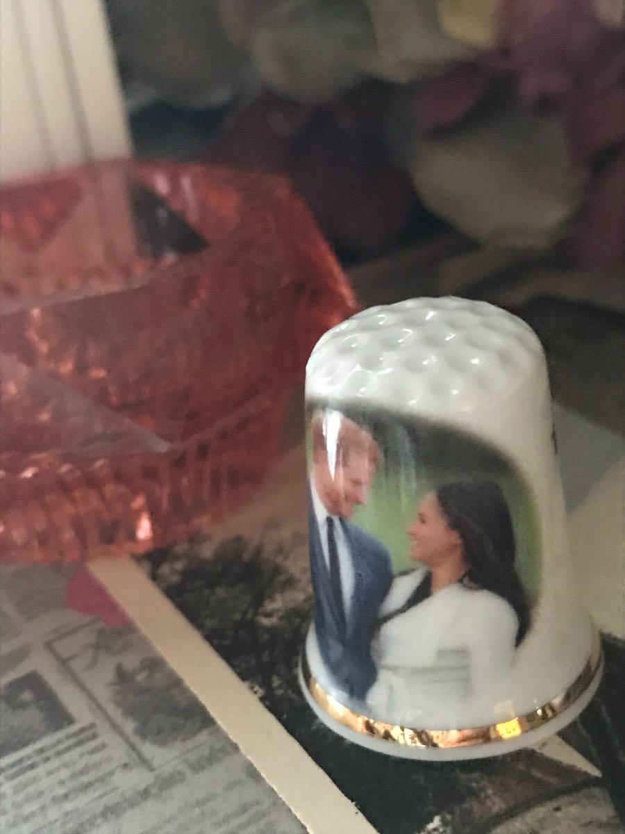新品◆英国製シンブル指貫◆ヘンリー王子&メーガン婚約記念。。_画像2