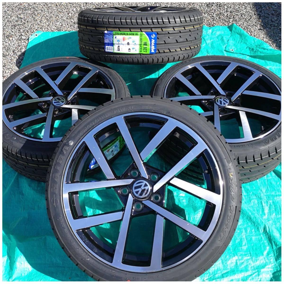 VW ワーゲン ゴルフ5 ゴルフ6 ゴルフ7 18インチ 新品 225/40R18 4本 タイヤセット品_画像4