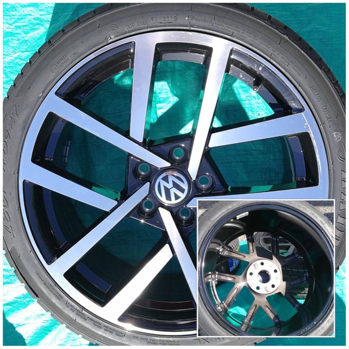 VW ワーゲン ゴルフ5 ゴルフ6 ゴルフ7 18インチ 新品 225/40R18 4本 タイヤセット品_画像6