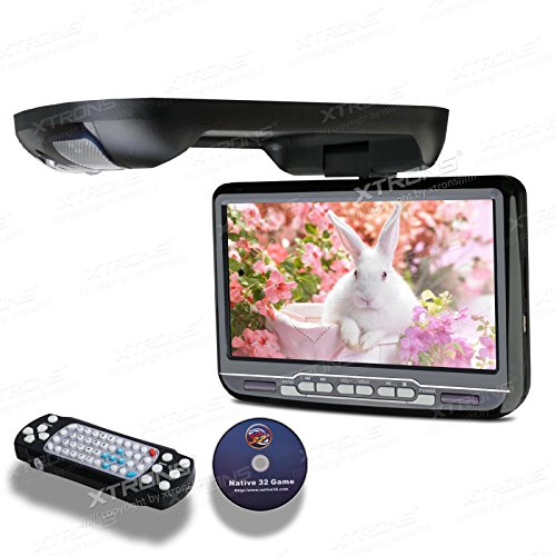 XTRONS 9 -inch flip down DVD player monitor high resolution