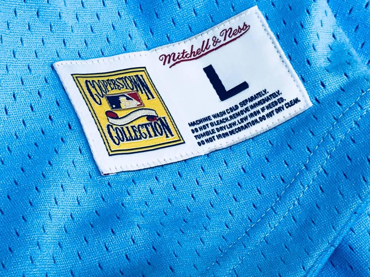 【S】 MITCHELL&NESS ミッチェル&ネス MLB ベースボールジャージ TeamWin ユニフォーム MARINERS シアトル マリナーズ USA正規品 水色_画像5