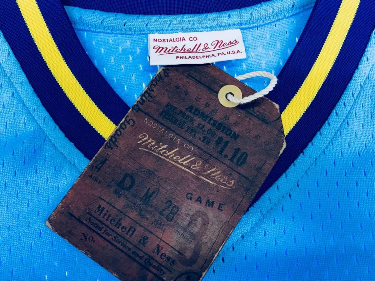 【S】 MITCHELL&NESS ミッチェル&ネス MLB ベースボールジャージ TeamWin ユニフォーム MARINERS シアトル マリナーズ USA正規品 水色_画像3