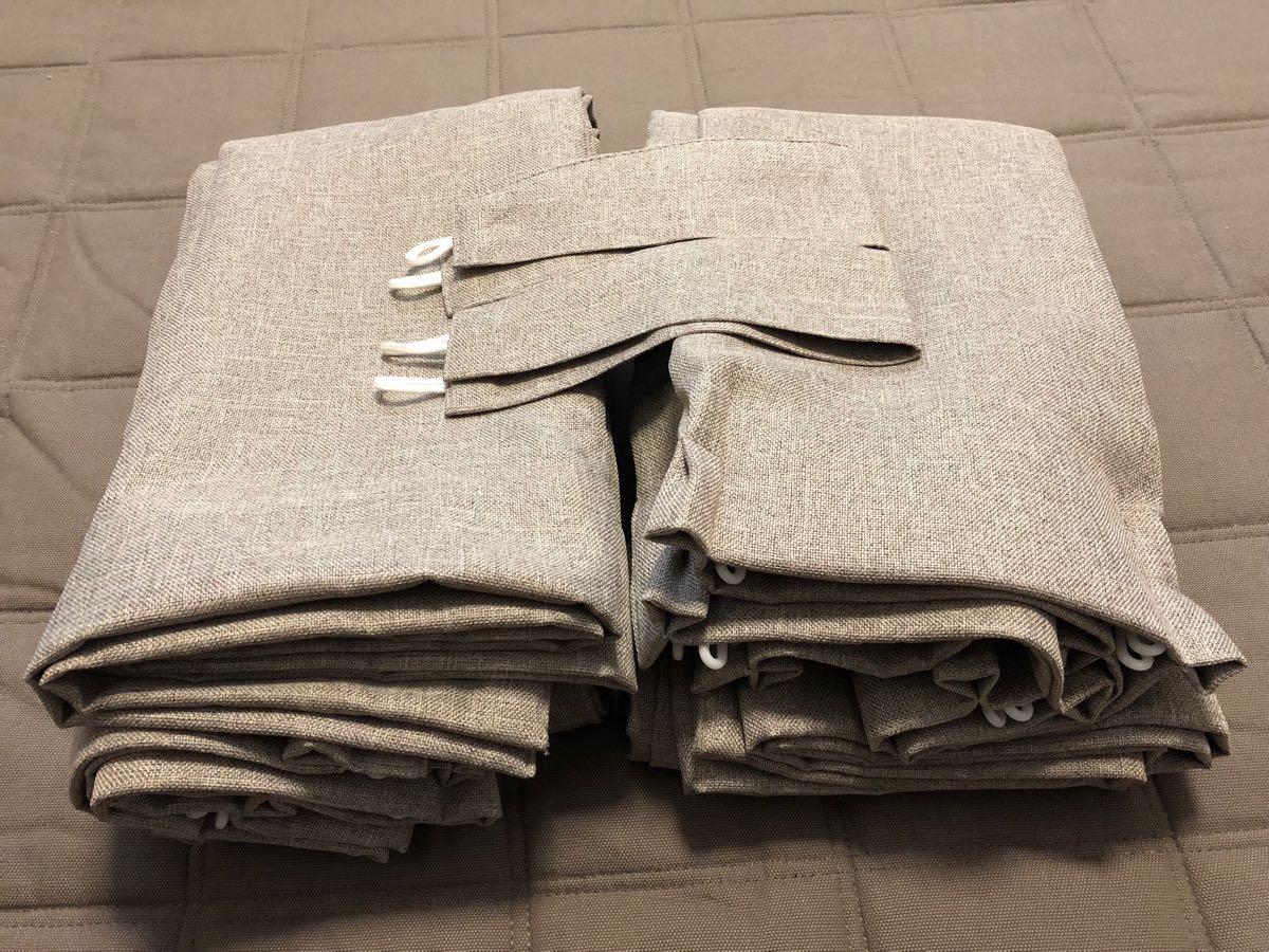 無印良品 プリーツカーテン ベージュ 幅100cm×丈200cm 2枚組 防炎・遮光性 ポリエステル