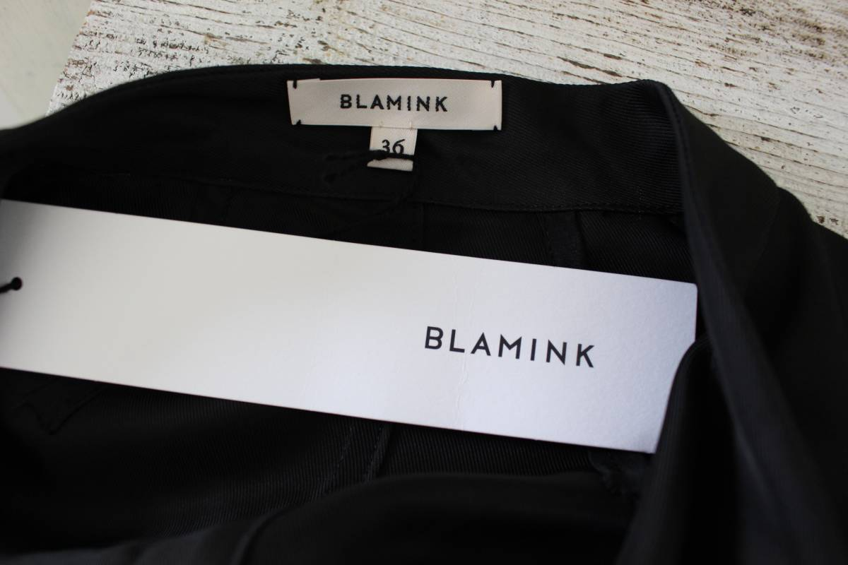 BLAMINK ブラミンク  ワイドシルエットワンピース ボウタイ付き コクーン  2017SS 美品_画像8