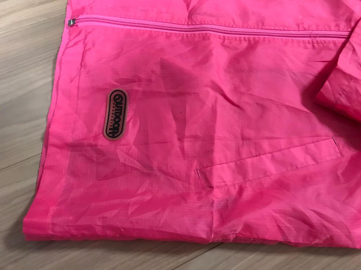 ★登山★アウトドア レインパーカー ピンク