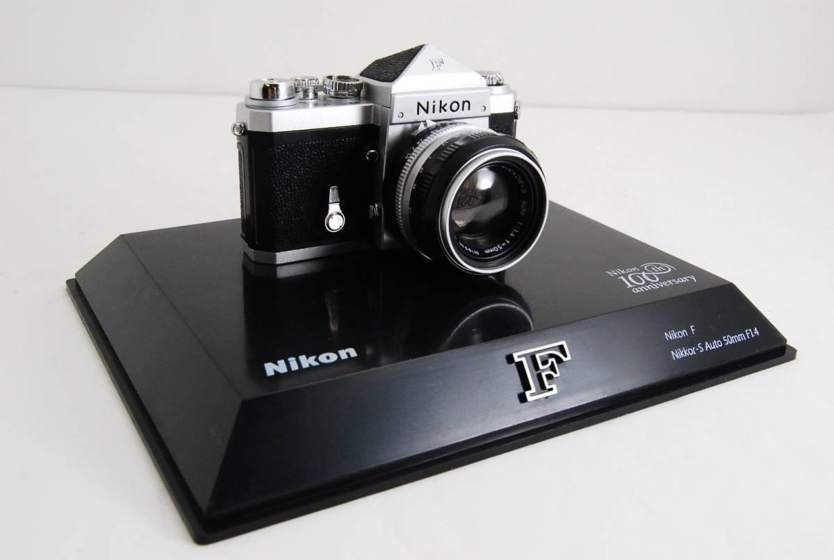 新品同様 限定受注生産 Nikon ニコン 100周年 ミニチュアカメラ ニコンF マニュアル_画像3