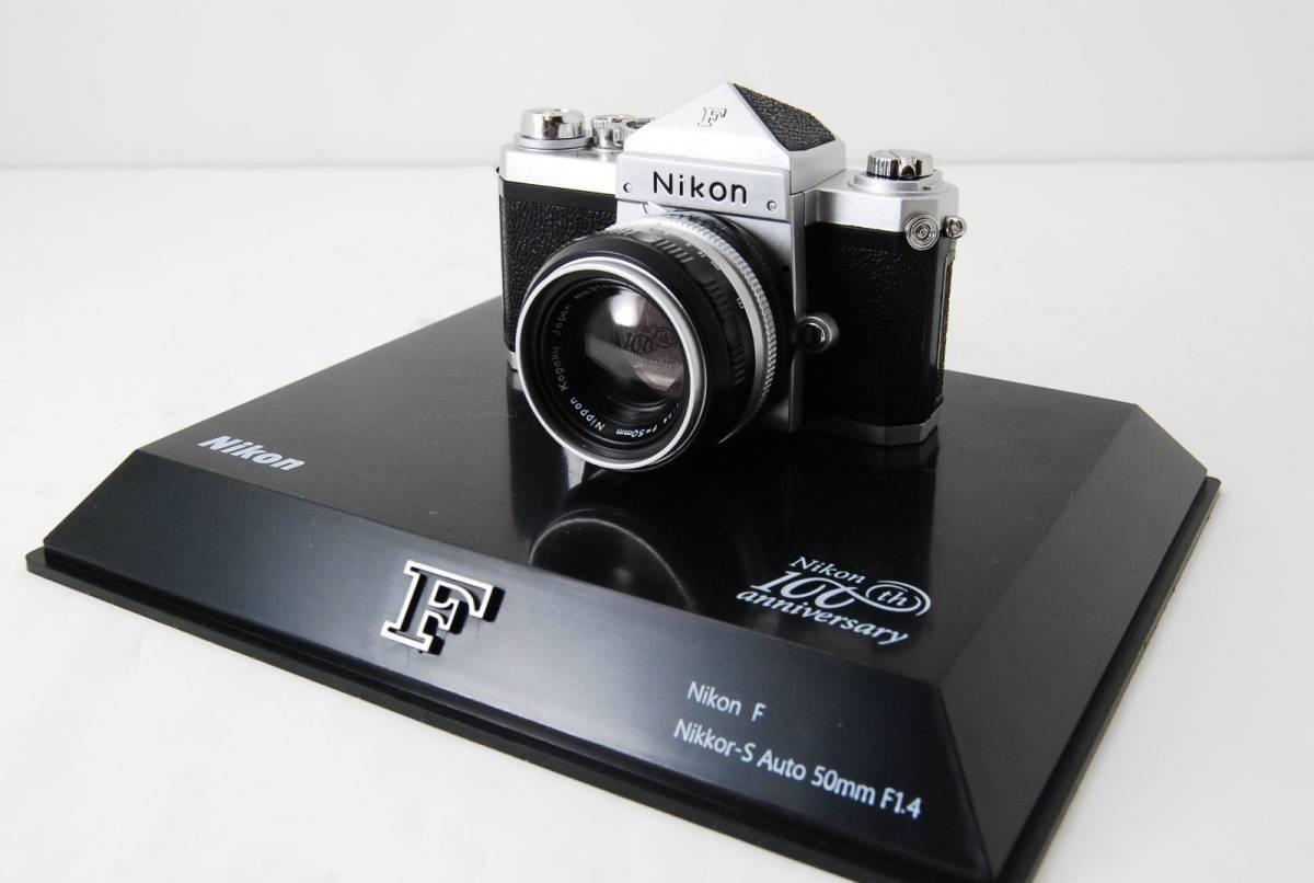 新品同様 限定受注生産 Nikon ニコン 100周年 ミニチュアカメラ ニコンF マニュアル_画像2