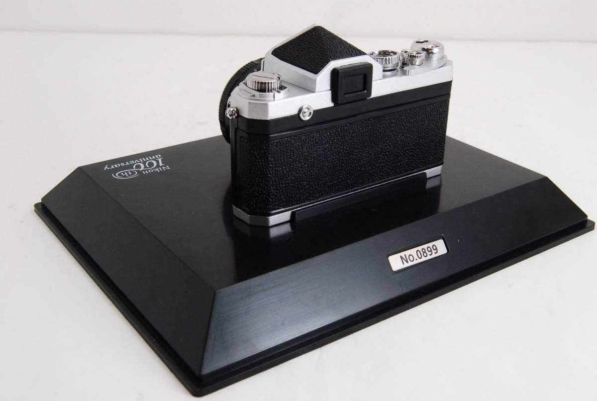 新品同様 限定受注生産 Nikon ニコン 100周年 ミニチュアカメラ ニコンF マニュアル_画像4