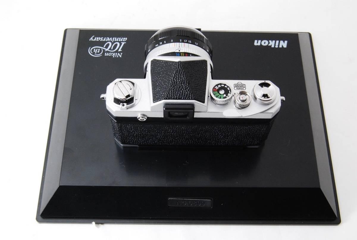 新品同様 限定受注生産 Nikon ニコン 100周年 ミニチュアカメラ ニコンF マニュアル_画像5